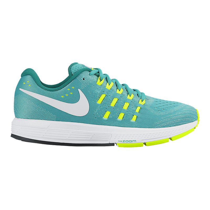 0887be37284d Nike Women s Air Zoom Vomero 11 Running Shoes - Jade Volt Green White (