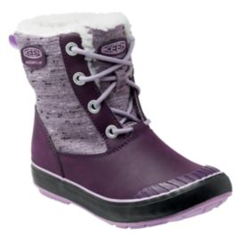 Keen Girls' Elsa Waterproof Winter Boots - Plum/Lilac