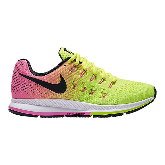 45ef929db4967 Nike Women s Air Zoom Pegasus 33 Unlimited Running Shoes - Volt Green Pink