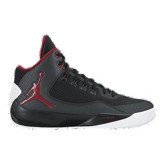 153b199049e1a4 Nike Men s Jordan Rising High 2 Basketball Shoes - Black Red White ...