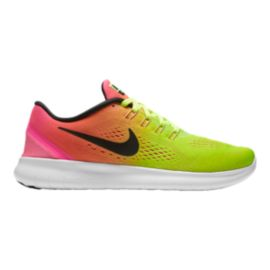 Nike Women's Free RN 2016 Unlimited Running Shoes - Volt Green/Pink