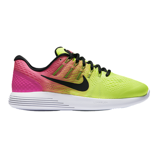 meet d4742 c036b Nike Women s LunarGlide 8 Unlimited Running Shoes - Volt Green Pink Black    Sport Chek