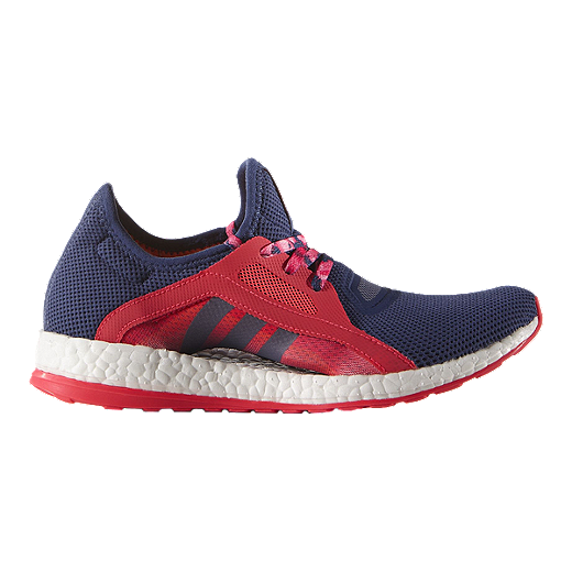 adidas Womens Pure Boost X Running Shoes  Purple Red