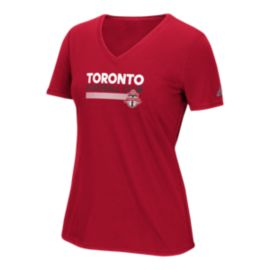 Toronto FC Team Pattern Women's Bar Tee