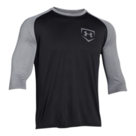 Under Armour Baseball 3/4 Sleeve Tee - Black