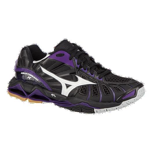 2ffacd25c2fd Mizuno Women's Wave Tornado X Indoor Court Shoes - Black/Purple | Sport Chek