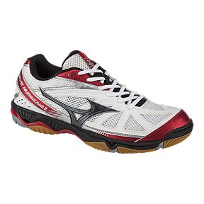 8c5b477cf Mizuno Men s Wave Hurricane 2 Indoor Court Shoes - Black Red