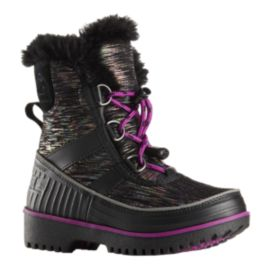 Sorel Girls' Tivoli II Preschool Winter Boots - Black/Plum