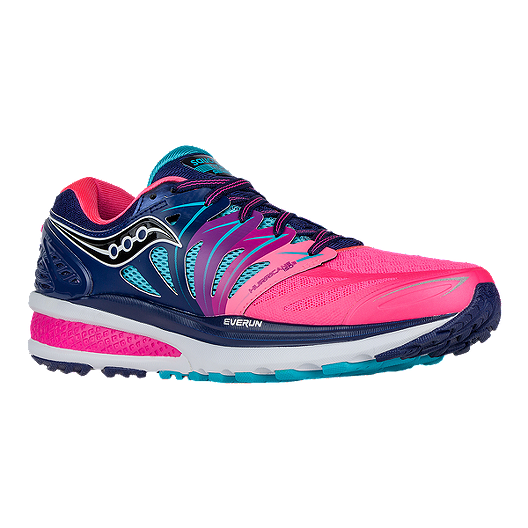 9a1f67dd527 Saucony Women s Hurricane ISO 2 Running Shoes - Pink Blue Aqua Blue ...