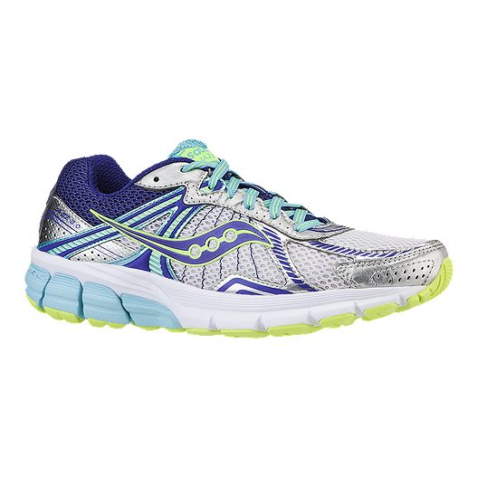 a725bd18ead9 Saucony Women s ProGrid Jazz 2.0 Running Shoes - Silver Purple Lime Green