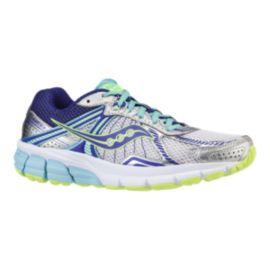 Saucony Women's ProGrid Jazz 2.0 Running Shoes - Silver/Purple/Lime Green