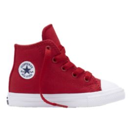 Converse Kids' Chuck Taylor II HI Preschool Casual Shoes - Red/White