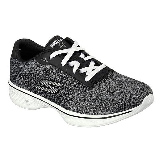 39eefee5ef50 Skechers Women s Go Walk 4 Fit Knit Shoes - Black Heather Grey ...