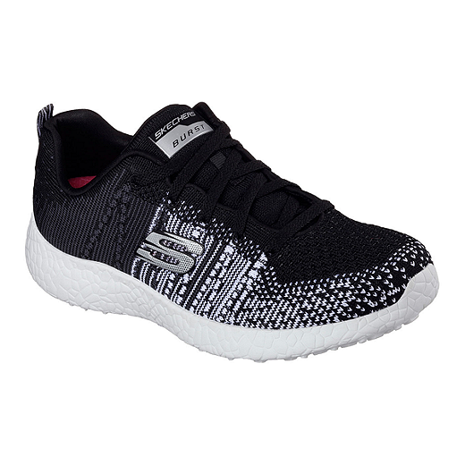 Skechers Women's Skech Knit Burst Shoes BlackWhite
