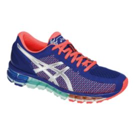 ASICS Women's Gel Quantum 360 Running Shoes - Blue/Coral Pink