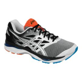 ASICS Men's Gel Cumulus 18 2E Wide Width Running Shoes - White/Black Fade/Blue
