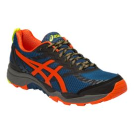 ASICS Men's Gel FujiTrabuco 5 Trail-Running Shoes - Red/Blue/Black