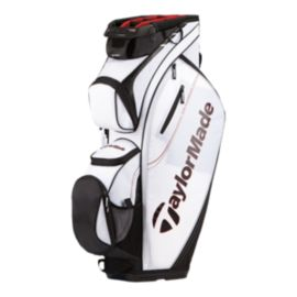 TaylorMade San Clemente Cart Bag - White / Black / Red