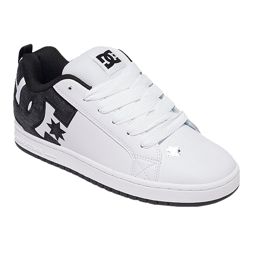 edd53b485d0bc9 DC Men's Court Graffik SE Skate Shoes - White/Black | Sport Chek