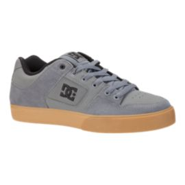DC Men's Pure Skate Shoes - Grey/Gum