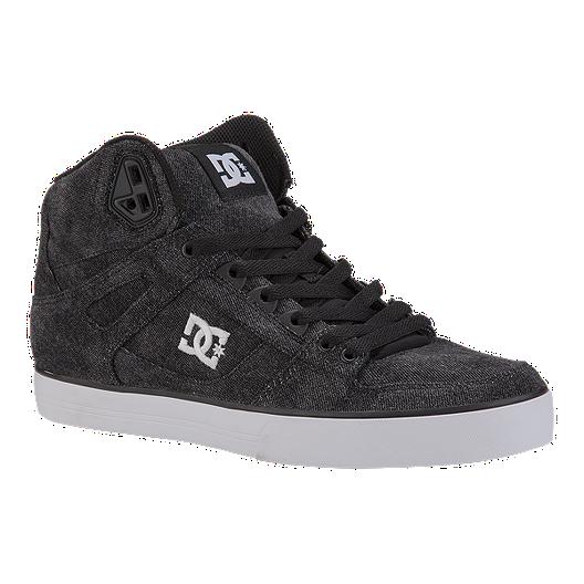 abb9c2e6b DC Men s Spartan High WC TX SE Skate Shoes - Black
