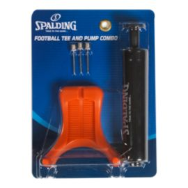 Spalding Football Tee and Pump Combo