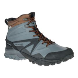 Merrell Men's Capra Glacial Ice+ Mid Waterproof Winter Boots - Grey/Brown/Black