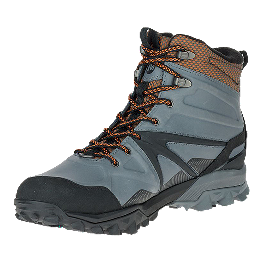 4842e258b23 Merrell Men's Capra Glacial Ice+ Mid Waterproof Winter Boots - Grey ...