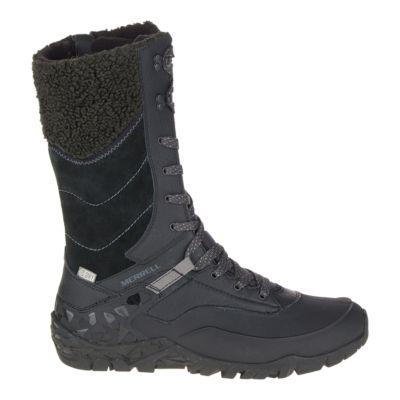 a5dea280 Merrell Women's Aurora Tall Ice+ Waterproof Winter Boots - Black