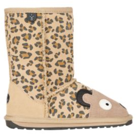 Emu Girls' Creatures Lamb Preschool Winter Boots - Cheetah