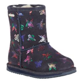 Emu Girls' Flutter Brumby Waterproof Winter Boots - Indigo
