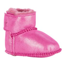 Emu Toddler Girls' Baby Bootie Winter Boots - Metallic Pink