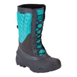 The North Face Girls' Thermoball Shellista Winter Boots - Grey/Blue