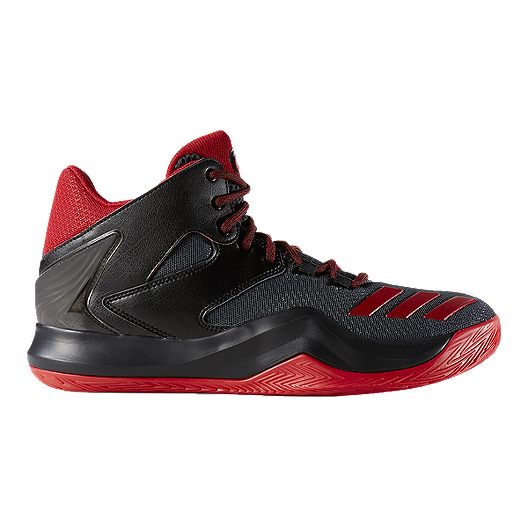 free shipping bf8fc cfffc adidas Men s D Rose 773 V Basketball Shoes - Black Red   Sport Chek