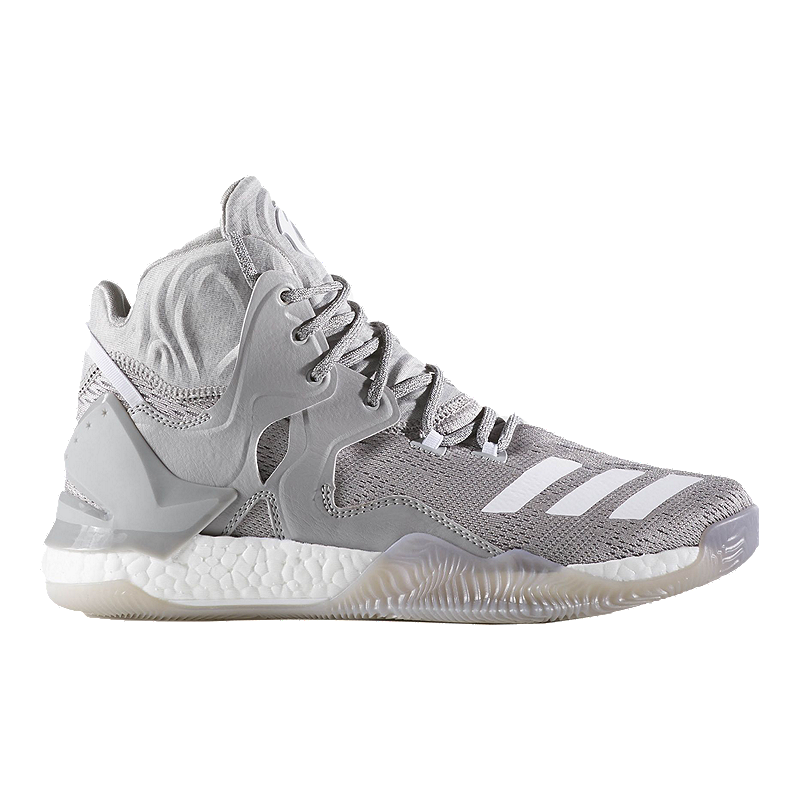 new style 3db74 94a9c adidas Men s D Rose 7 Basketball Shoes - Grey White   Sport Chek