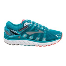 Brooks Women's Transcend 2 Running Shoes - Teal Blue/White