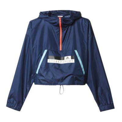 adidas StellaSport Glow Women's Half-Zip Hooded Windbreaker Jacket ...