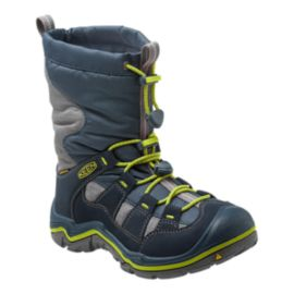 Keen Kids' WinterPort II Waterproof Winter Boots - Navy/Green