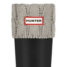 Hunter Girls' 6 Stitch Cable Rain Boot Socks - Greige