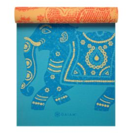 Gaiam  5 Millimetre Reversible Elephant Pattern Yoga Mat