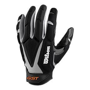 Wilson GST Big Skills Football Glove - Black White 6c9780f3e255