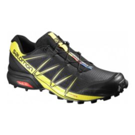Salomon Men's SpeedCross Pro Trail Running Shoes - Black/Yellow