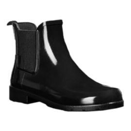 Hunter Women's Original Refined Chelsea Gloss Rain Boots - Black