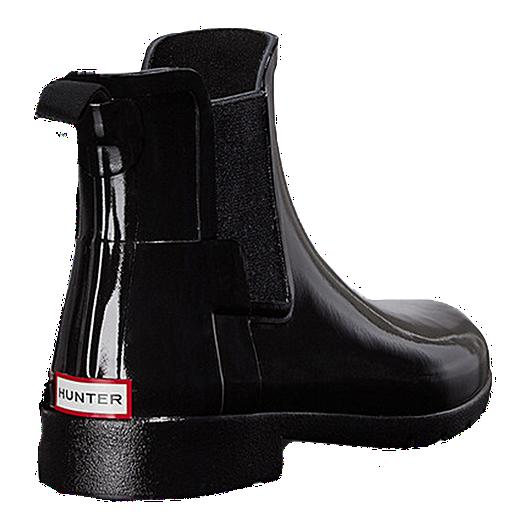 be1bb67e178 Hunter Women's Original Refined Chelsea Gloss Rain Boots - Black ...