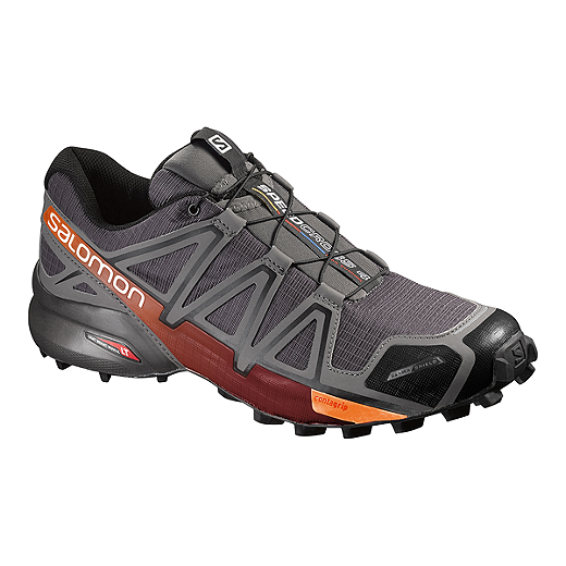 03d16e4e9 Salomon Men s Speedcross 4 CS Trail Running Shoes - Grey Orange ...