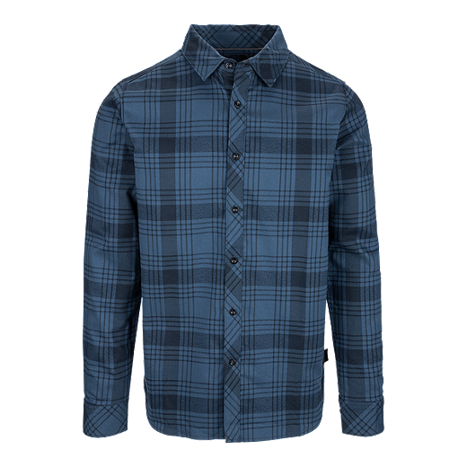 f4269631c The North Face Approach Long Sleeve Mens' Flannel Shirt - H2G URBAN NAVY