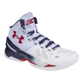 "Under Armour Curry 2 ""USA"" Kids' Grade-School Basketball Shoes"