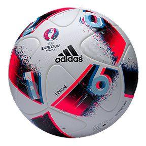 0b9909bdeec adidas Euro 16 Official Match Soccer Ball - White Bright Blue