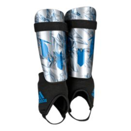 adidas Messi 10 Youth Shin Guards - Silver Metal