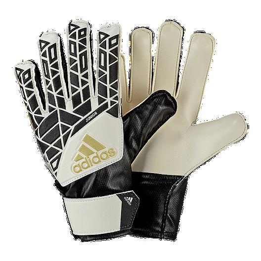 online store 3e9b7 624bf adidas Ace Junior Goalkeeper Gloves - White/Black | Sport Chek